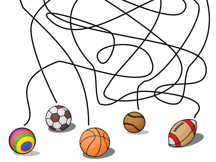 Který míč holčička ztratila?