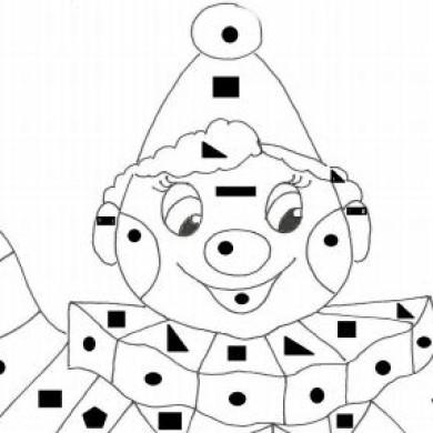 Šáša – omalovánka podle geometrických tvarů