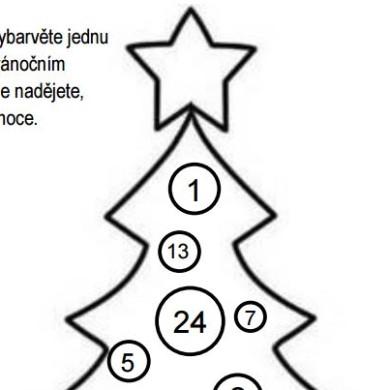 Adventní stromek k vytištění