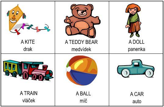 Angličtina pro děti – hračky