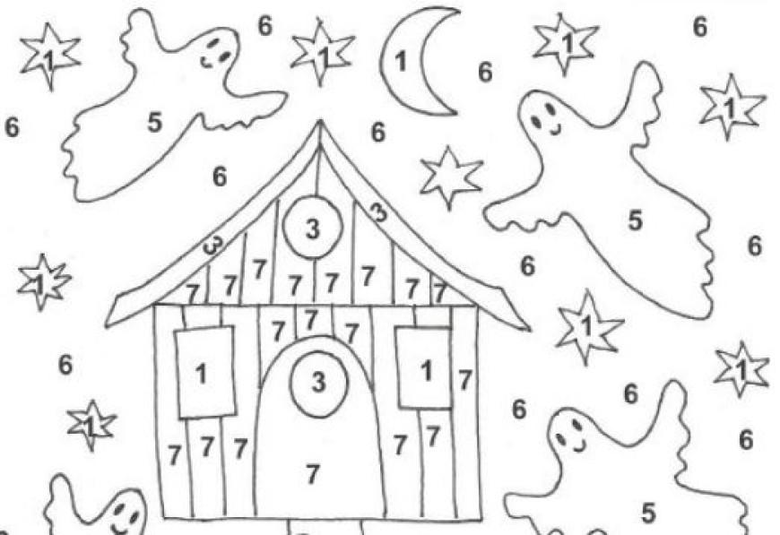 Halloween – omalovánka podle čísel