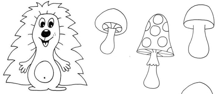 Ježek na houbách