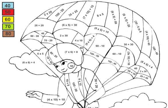 Parašutista – barevné počítání pro třeťáky