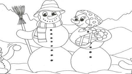 Rodinka sněhuláků