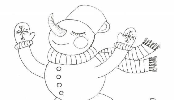 Sněhulák na bruslích