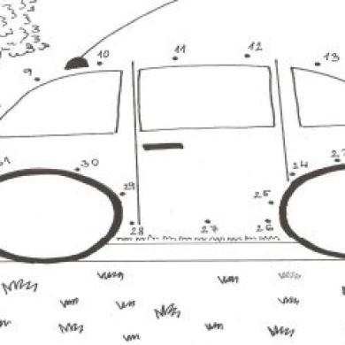 Spojovačka puntíků – dopravní prostředek