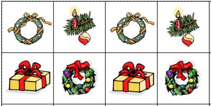 Vánoční řady – trénink pozornosti