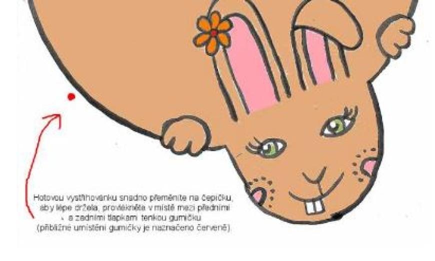 Vystřihovánka – králičí holčička