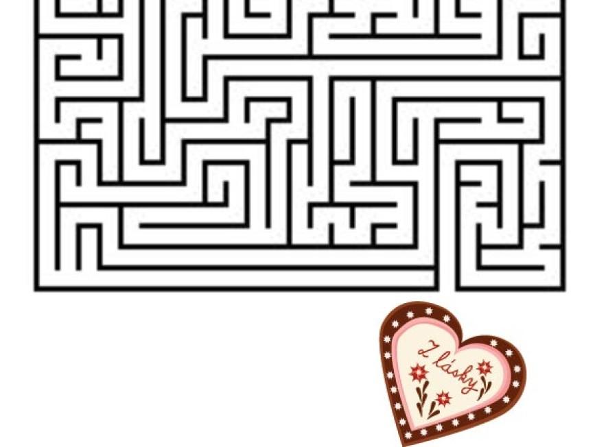 Bludiště – perníkové srdce
