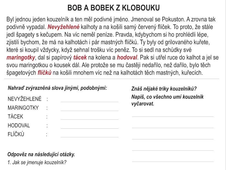 Čeština hrou: Bob a Bobek