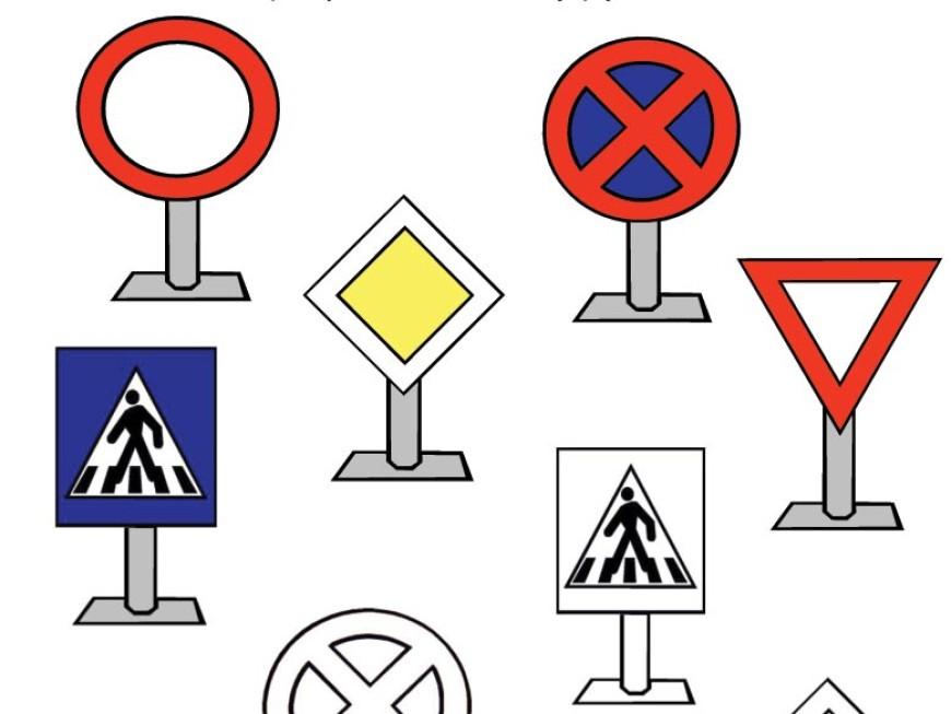 Dopravní značky – omalovánka a spojovačka v jednom