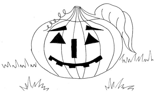 Halloweenská omalovánka