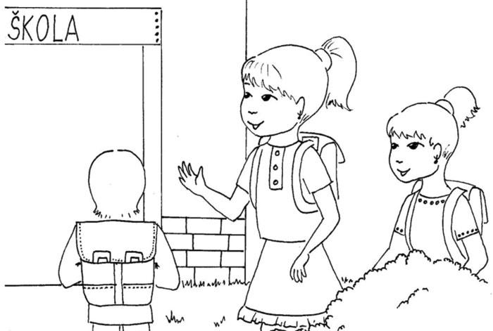 Jdeme do školy – omalovánka