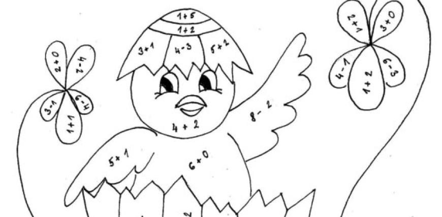 Kuřátko – barevné počítání