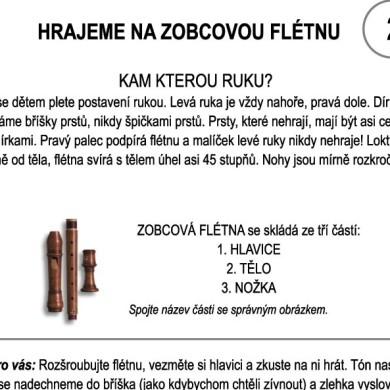 Škola hry na zobcovou flétnu – LEKCE DRUHÁ