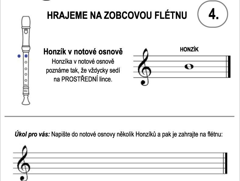 Škola hry na zobcovou flétnu – LEKCE ČTVRTÁ