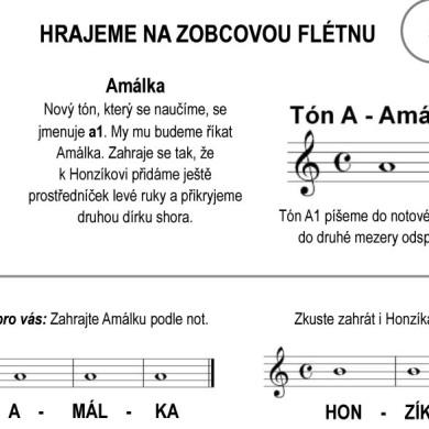 Škola hry na zobcovou flétnu – LEKCE PÁTÁ