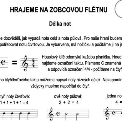 Škola hry na zobcovou flétnu – LEKCE SEDMÁ