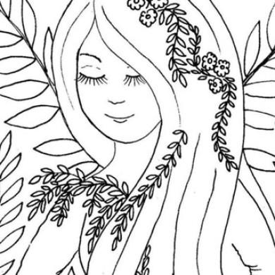 Lesní víla – omalovánka