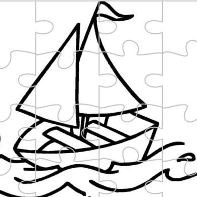 Loďka – omalovánka a puzzle v jednom