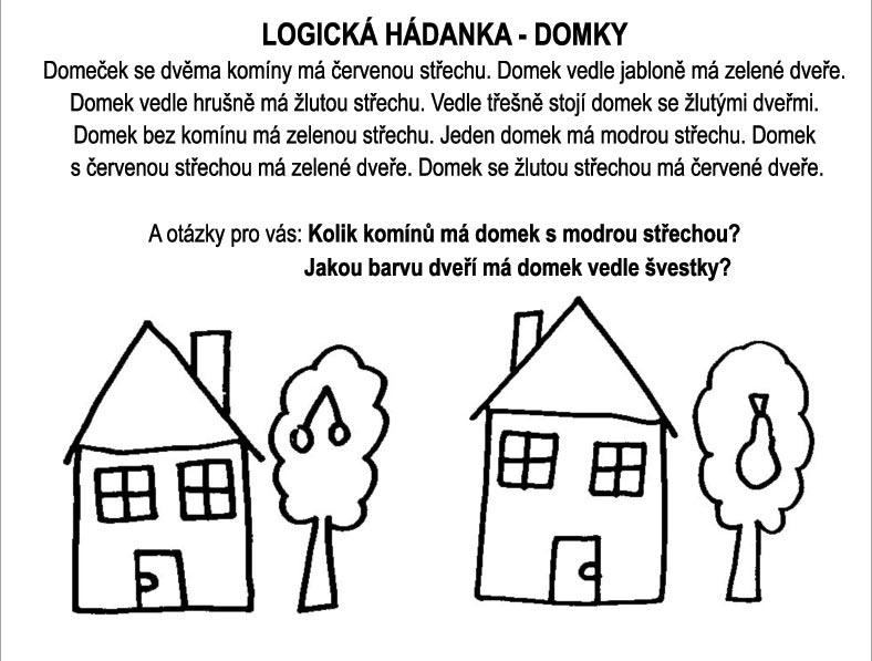 Logická hádanka – domky