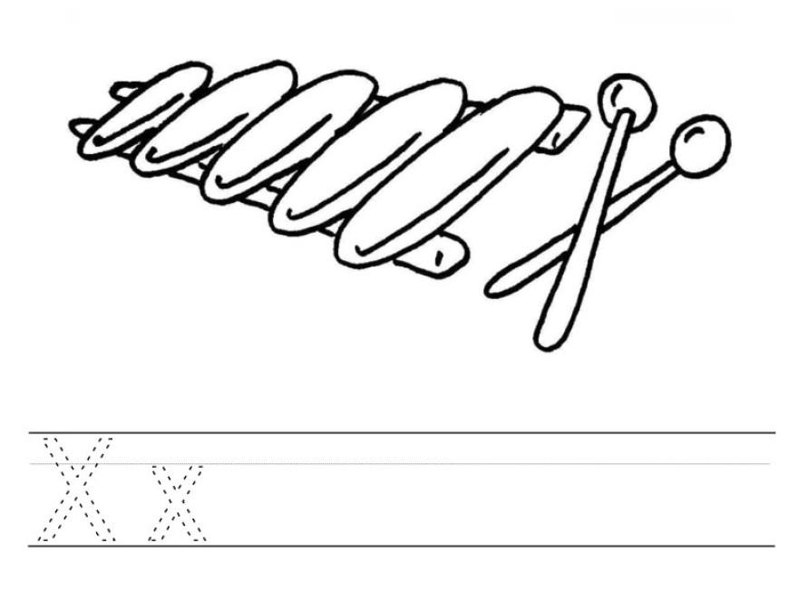 Malujeme abecedu – X