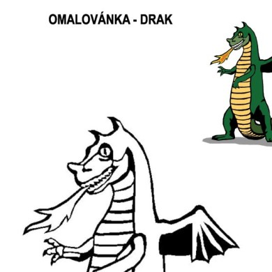 Omalovánka – drak