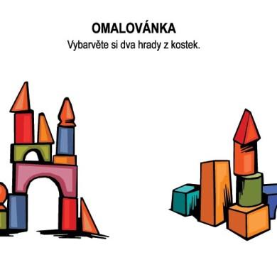 Omalovánka – hrady z kostek