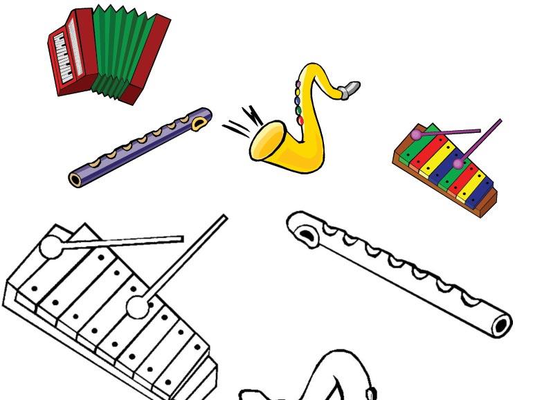 Omalovánka – hudební nástroje