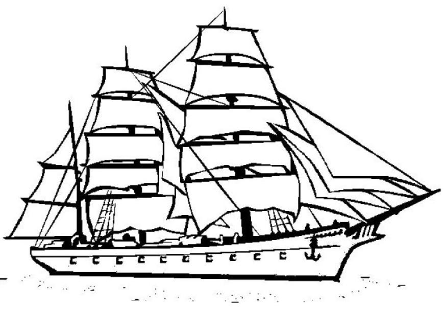Omalovánka – loď