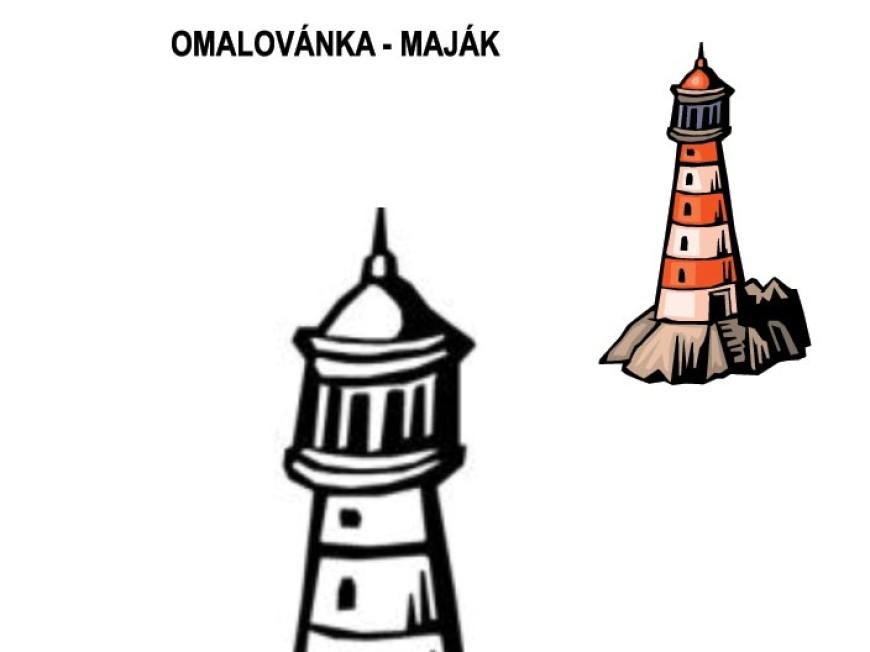 Omalovánka – maják