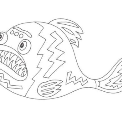 Omalovánka – ryba