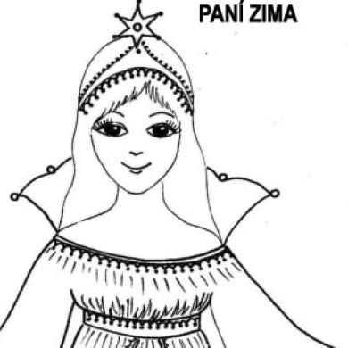 Paní Zima – omalovánka