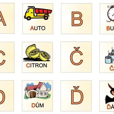 Pexeso s abecedou (A-F)