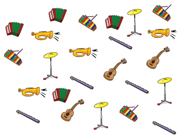 Počítáme hudební nástroje