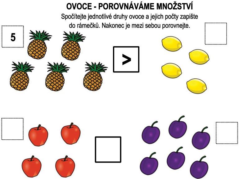 Porovnáváme ovoce