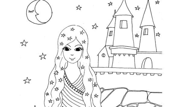 Princezna se zámkem – omalovánka