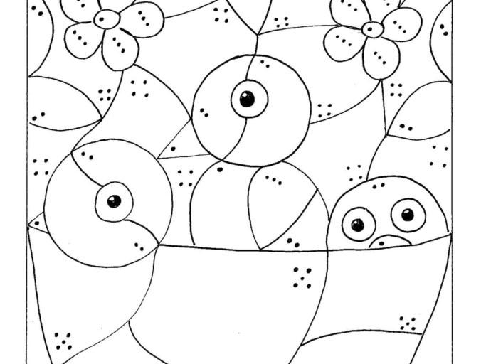 Ptačí omalovánka pro prťata