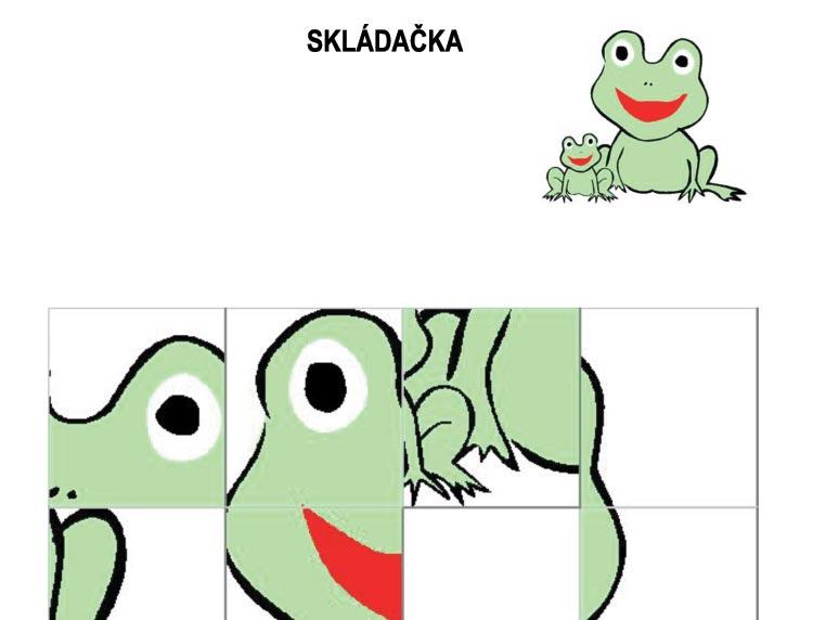 Skládačka – žáby