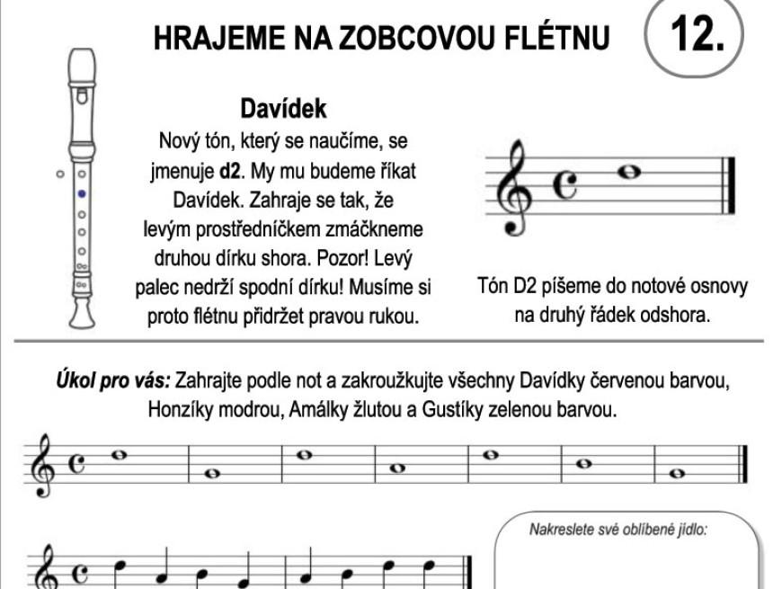 Škola hry na zobcovou flétnu – LEKCE DVANÁCTÁ