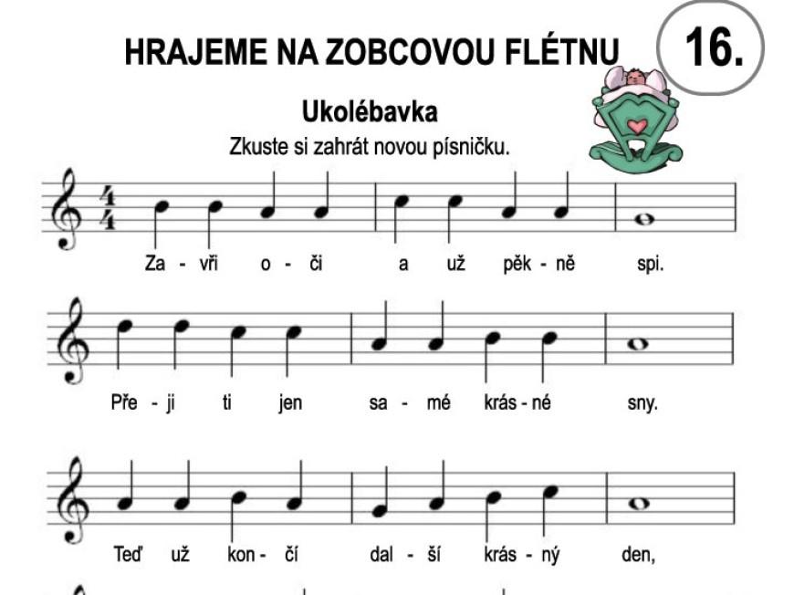 Škola hry na zobcovou flétnu – LEKCE ŠESTNÁCTÁ