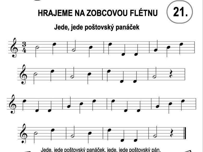 Škola hry na zobcovou flétnu – LEKCE 21.