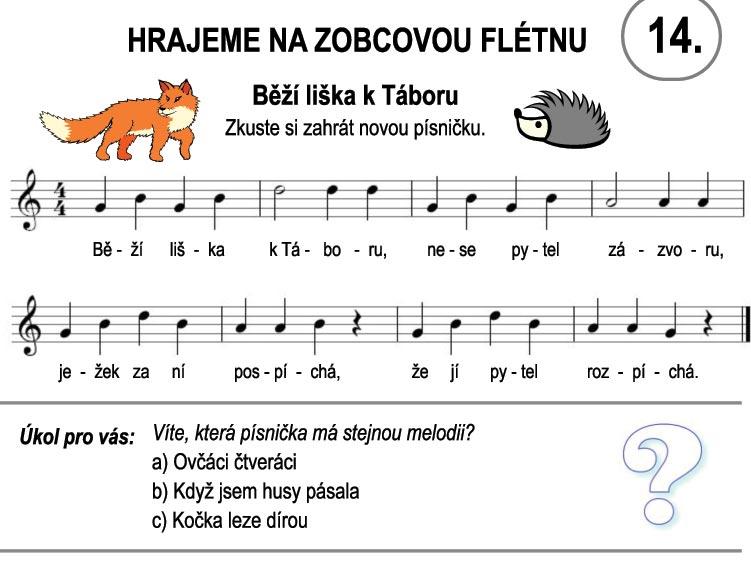 Škola hry na zobcovou flétnu – LEKCE ČTRNÁCTÁ