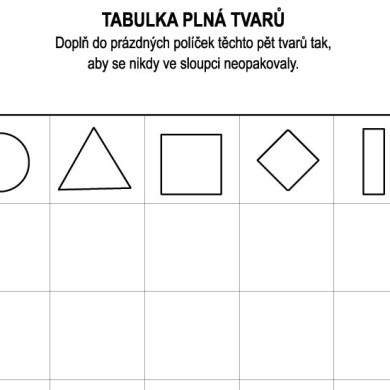 Tvarová tabulka