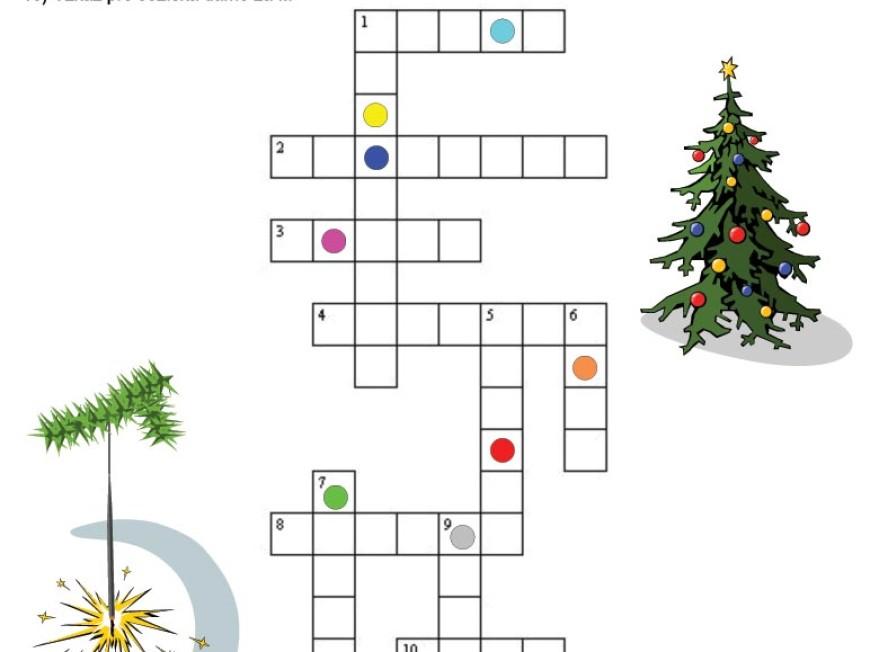 Vánoční křížovka
