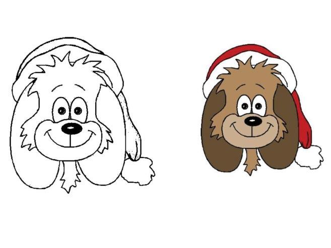 Vánoční zvířátka – omalovánka