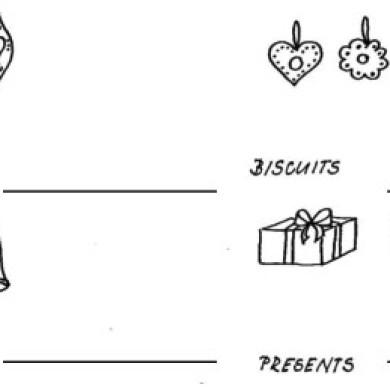 Vánoční anglická slovíčka