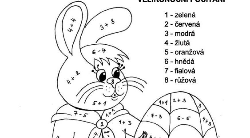 Velikonoční zajíček – barevné počítání