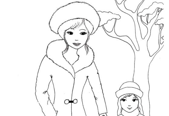 Zima – omalovánka