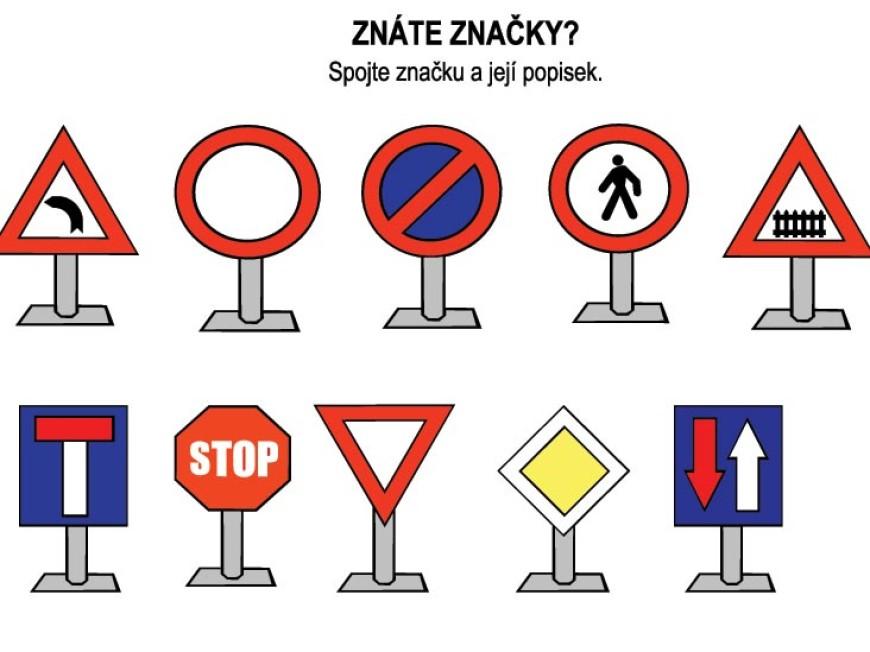 Znáte dopravní značky?